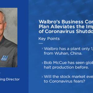Talkin 'ShopのThumnail Image:Walbroの事業継続計画はコロナウイルス停止の影響を軽減します